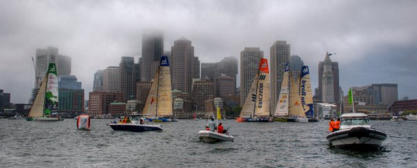 Volvo Ocean Race leaves Boston Fan Pier