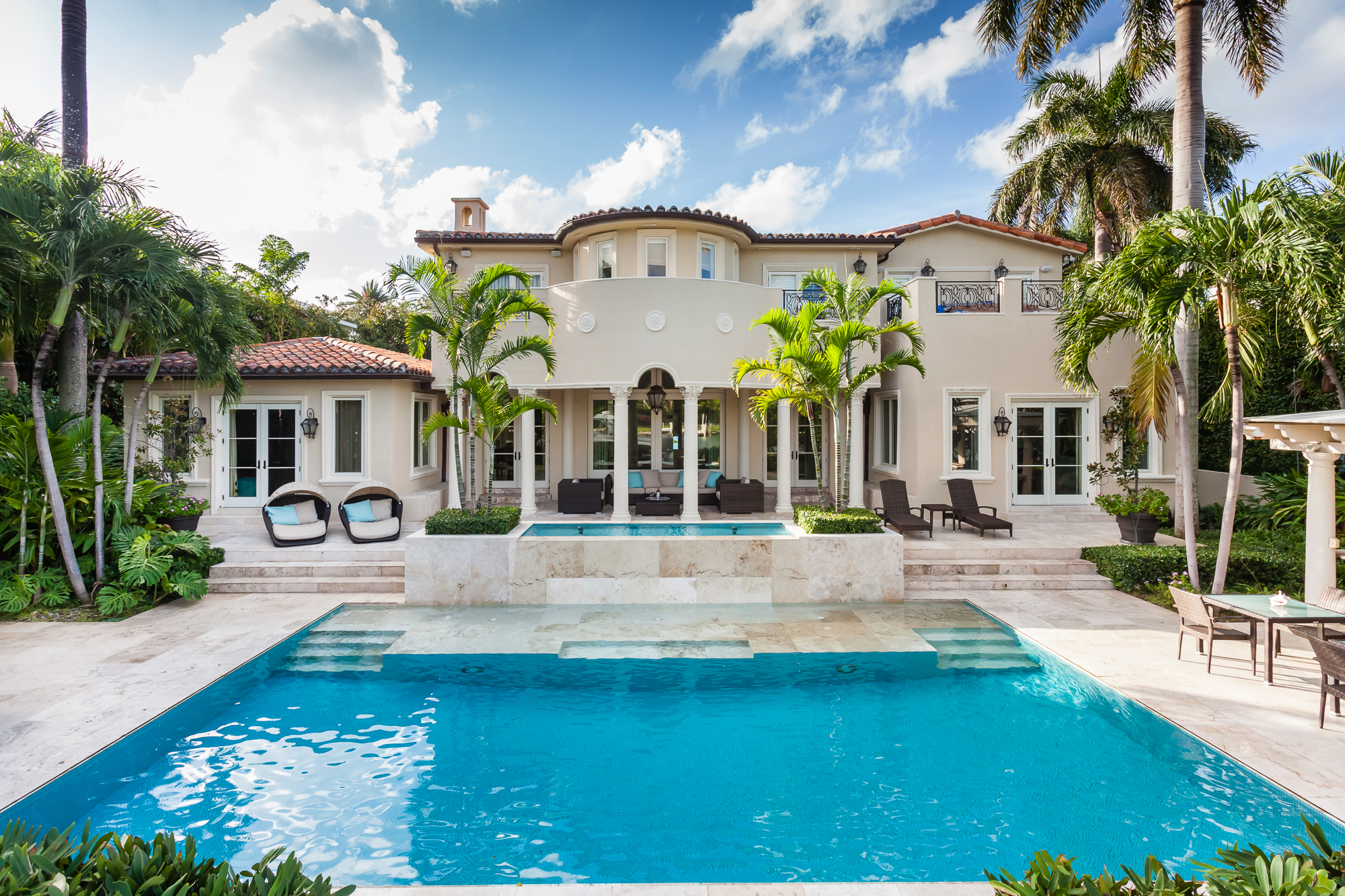 Luxury Home of the Week: Grand Mediterranean Style Mansion on Private Miami Island Offered at $14.995M